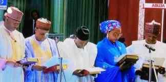 Buhari swears in ministers