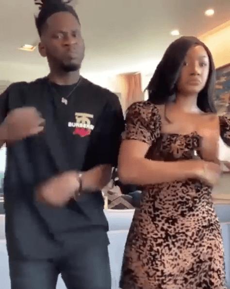 Mr Eazi and Temi Otedola dances together