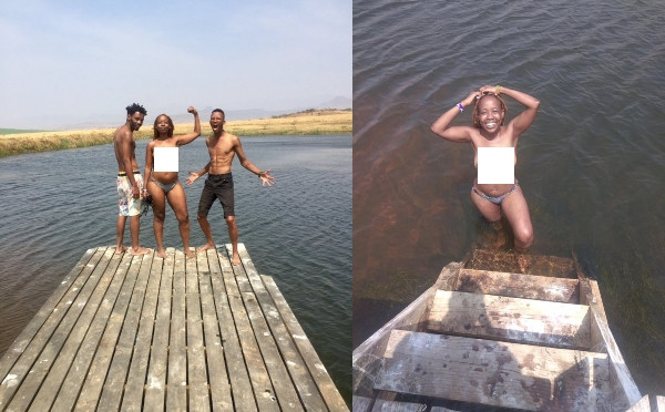 Ntsiki Mazwai and her male friends