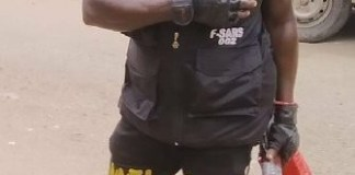 Inappropriately Dressed SARS Officer