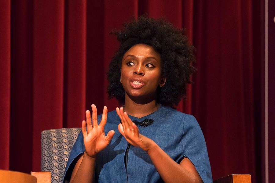 Chimamanda Adichie Hosts Black Panther Star, Lupita Nyong'o In Lagos (Video)