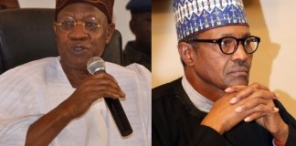 Lai Mohammed and President Buhari