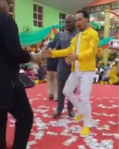 Pastor Odumejeje Dances To Peter Okoye's Tune In Church (Video)