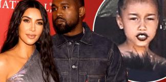 Kim Kardashian, Kanye West North West