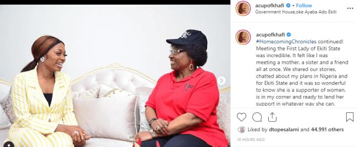 Khafi and Ekiti first lady