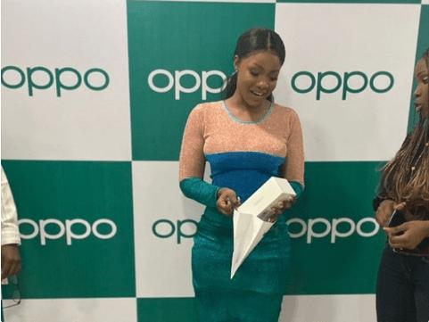 BBNaija: Oppo Cellular Items Tacha Andriod Cellphone