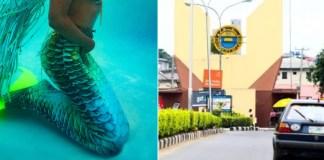 Student turns mermaid in unilag