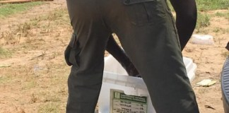 Police Officer Washes Uniform With Ballot Box In Bayelsa