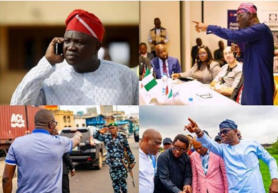 Collage photo of Ambode and Sanwo-olu