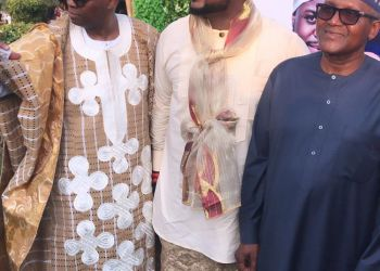Dangote Attends Adewale Adeleke, Kani's Wedding In Calabar (Photographs)