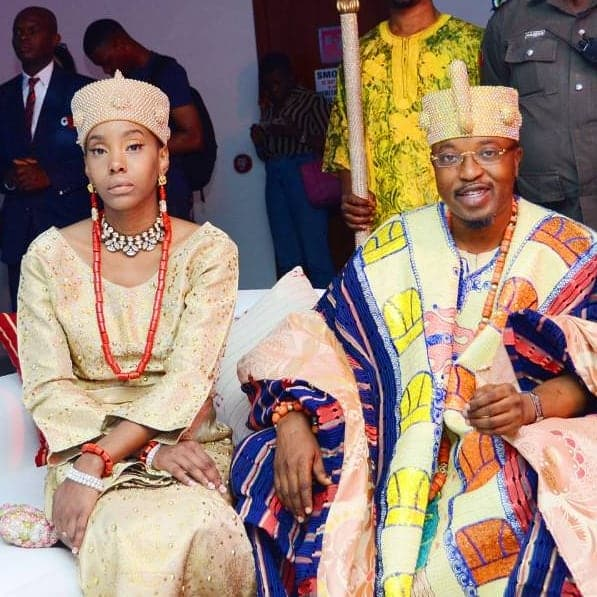 King Of Iwo and estranged wife,. Chanel Chin