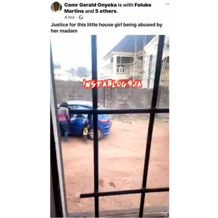 The Nigerian lady and her blue car