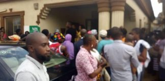 Registrants at NIMC Centre in Lagos