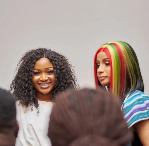 Ghanaian celebrity, Akuapem Poloo and Cardi B