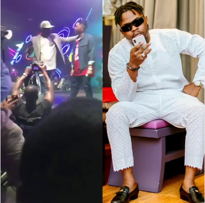 Bouncer Disgraces Lagos Big Boy For Attempting To Take Selfie With Olamide (Video)