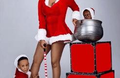 Toyin Lawani and children