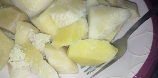 Boiled yam