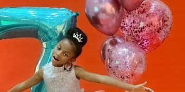 Peter Okoye, Wife Celebrate Their Daughter As She Turns 7
