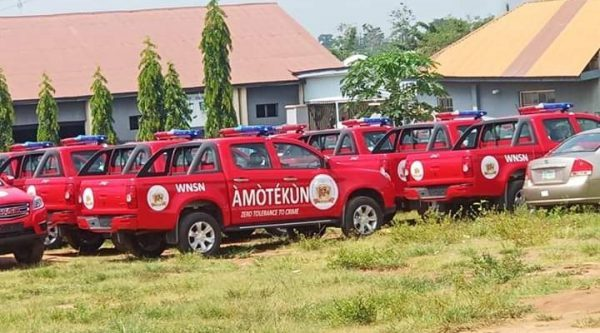 Amotekun Operation vehicles