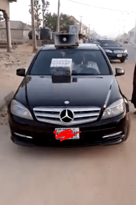 The Nigerian man in his Mercedes Benz