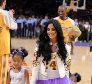 Photo of Vanessa Bryant, late Kobe Bryant and children