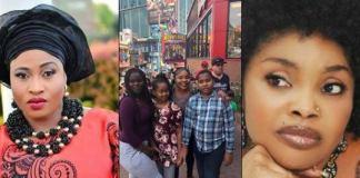 Aisha Abimbola, Lola Alao and the children