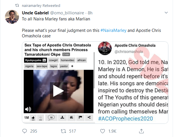 Naira Marley retweet video