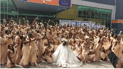 Sandra Ikeji's church wedding