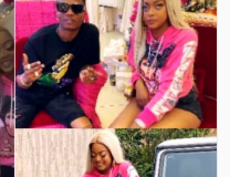 Wizkid and Paul Biya's daughter at the private party