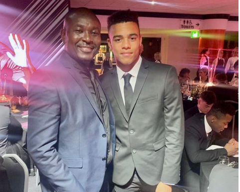 Oloye Akin Alabi Meets Mason Greenwood After Stunner Against Watford (Picture)