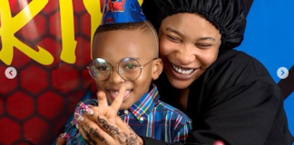 Beautiful mom, Tonto Dikeh and her son, King Andre