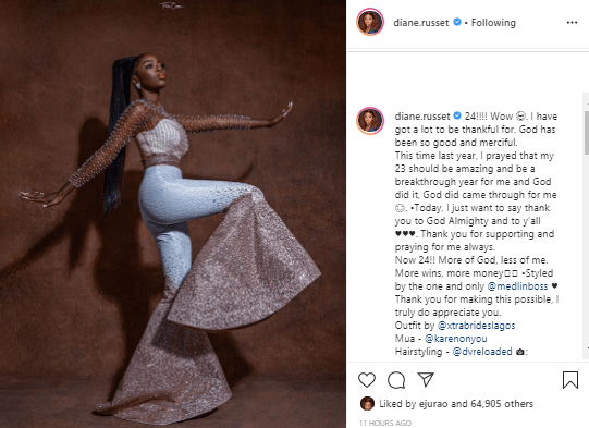 a 21 - Diane Releases Stunning Photo To Celebrate 24th Birthday