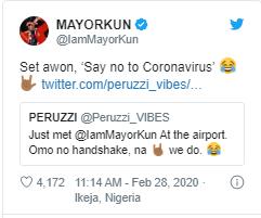 g 4 - I Couldn't Shake Mayorkun At Airport Because Of Coronavirus: Peruzzi