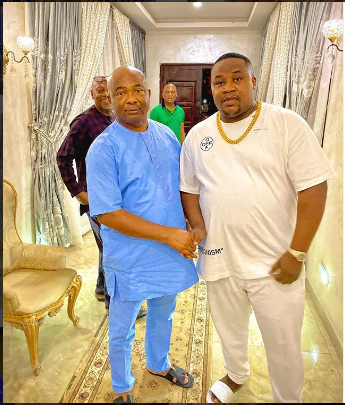 Anywhere Belle Face – Davido Mocks Cubana Chiefpriest For Hanging With Hope Uzodinma