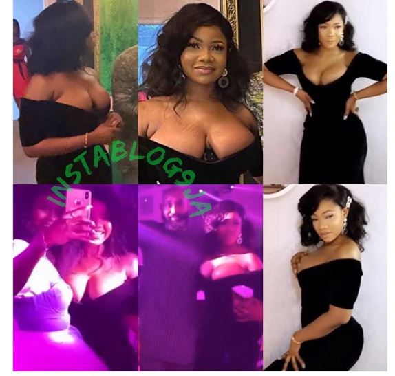 k - Tacha Pictured In Cleavage-Baring Outfit At AMVCA Nomination Show (Photo)