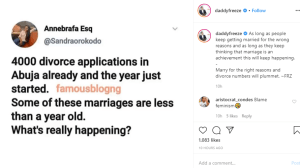 v 10 - If People Keep Marrying For Wrong Reasons, Divorce Rates Will Keep Increasing – Daddy Freeze