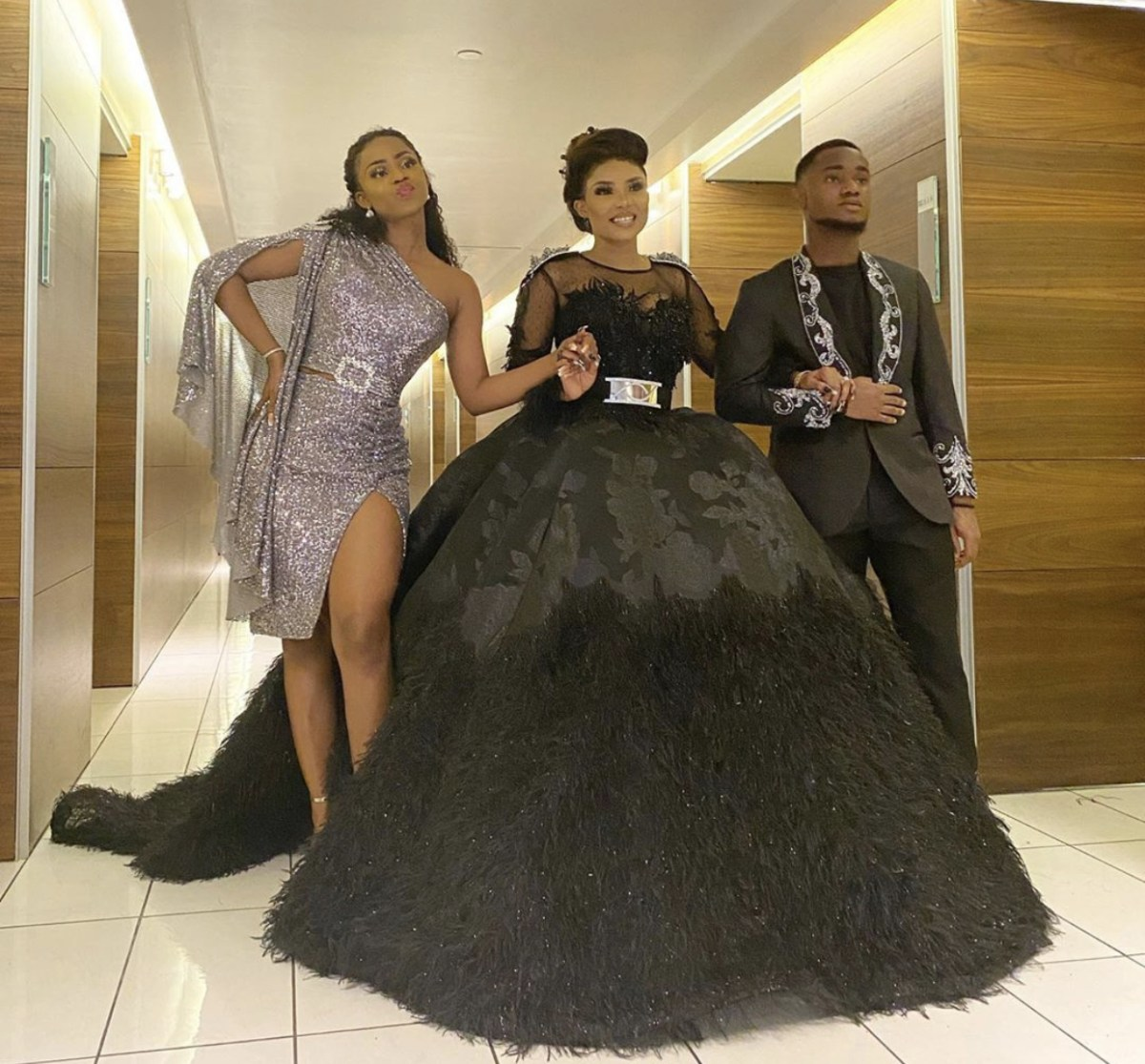 #AMVCA7: Iyabo Ojo Attends Event With Her Kids (Video)