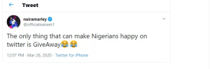 Coronavirus: Naira Marley Reveals The Only Thing That Can Make Nigerians Happy