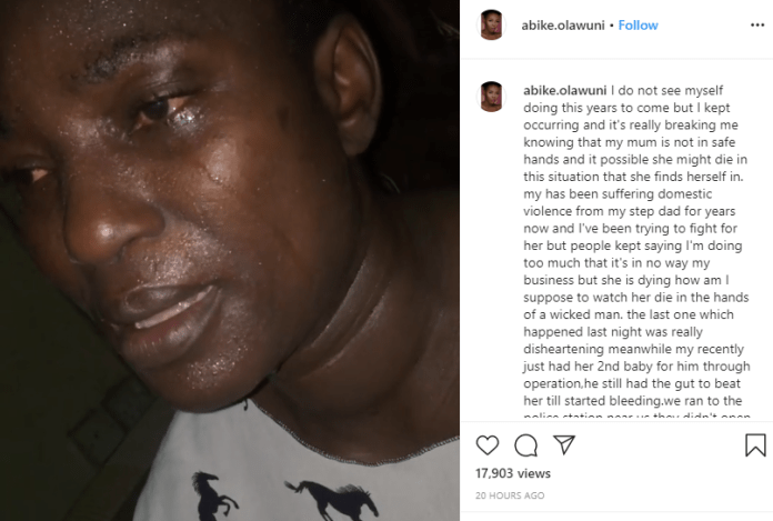 5e5b4a39b4c32 - OAP Abike Olawuni In Tears As Her Stepfather Allegedly Assaults Her Mom (Video)