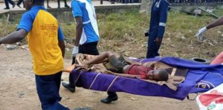 A victim of Lagos gas plant explosion