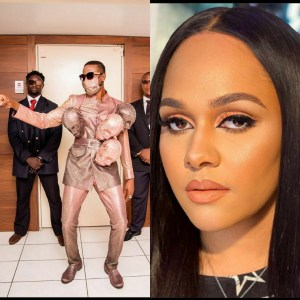 IMG 20200315 161659 - Tania Omotayo Shocked Over Omashola's Outfit To AMVCA (Video)