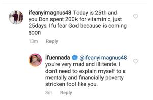 a 8 - You Are A Poverty Stricken Fool – Ifu Ennada Slams Trolls Over N200k Vitamin C Claim
