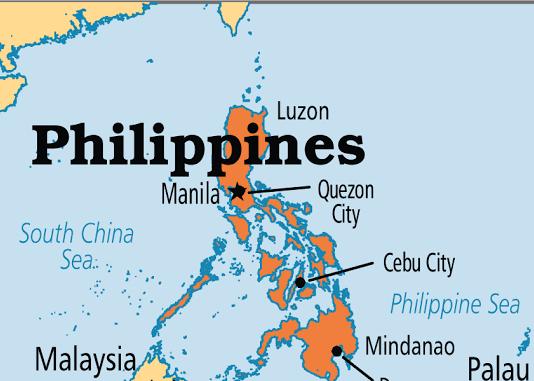 Phillipines on map