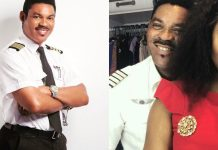 Omotola Jalade-Ekeinde and her husband, Captain Matthew