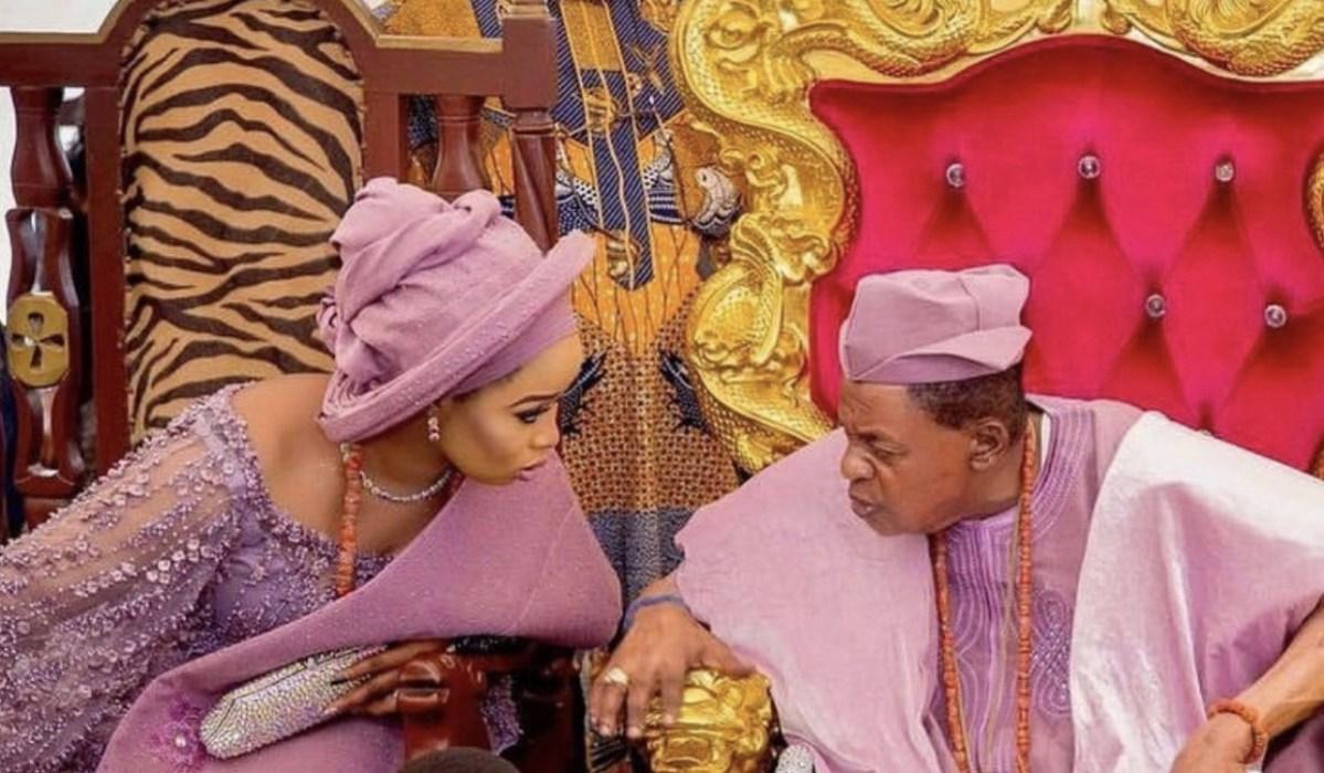 Olori Badirat Ajoke Shares New Photo With Alaafin Of Oyo; Calls Herself His Oxygen