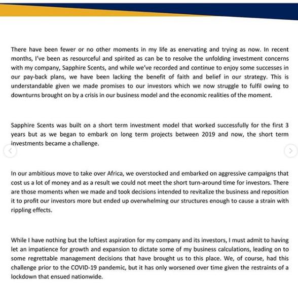 Jana's statement