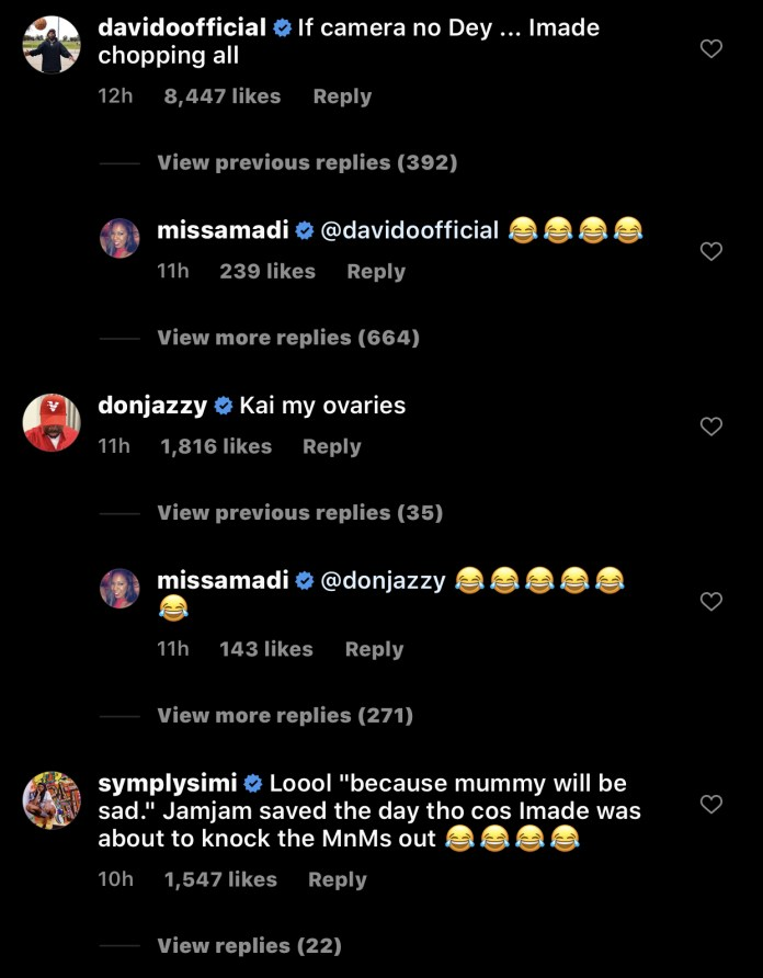 CFFB89B9 4530 4D44 9C2A 5D67CA793748 - Davido Reacts To Imade, Jamil's Snack Challenge