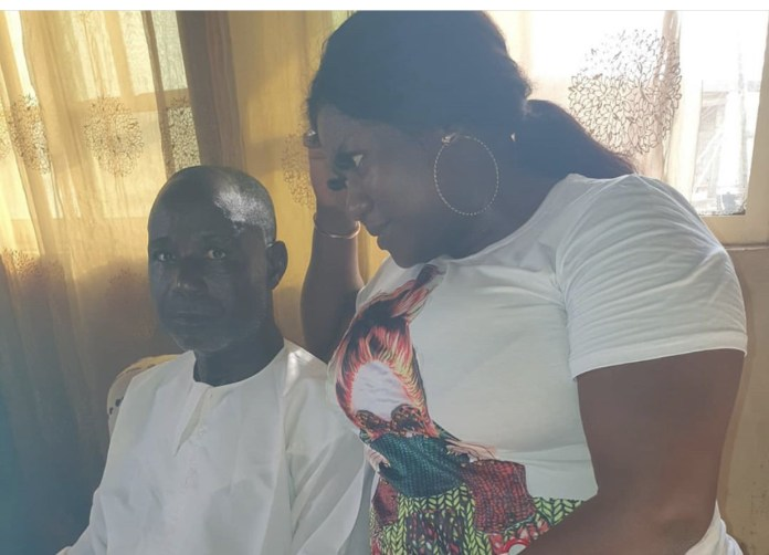 Yoruba actress, Bisola Badmus and her late father