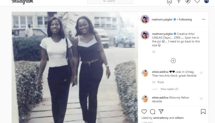 Screenshot 2 - Actress Mercy Aigbe Shares Hilarious Throwback Photo
