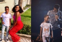 Wizkid's first babymama, Shola Ogudu and their son